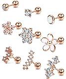 ORAZIO Cartilage Earrings for Women 16G Helix Tragus Conch Piercings Jewelry Stud