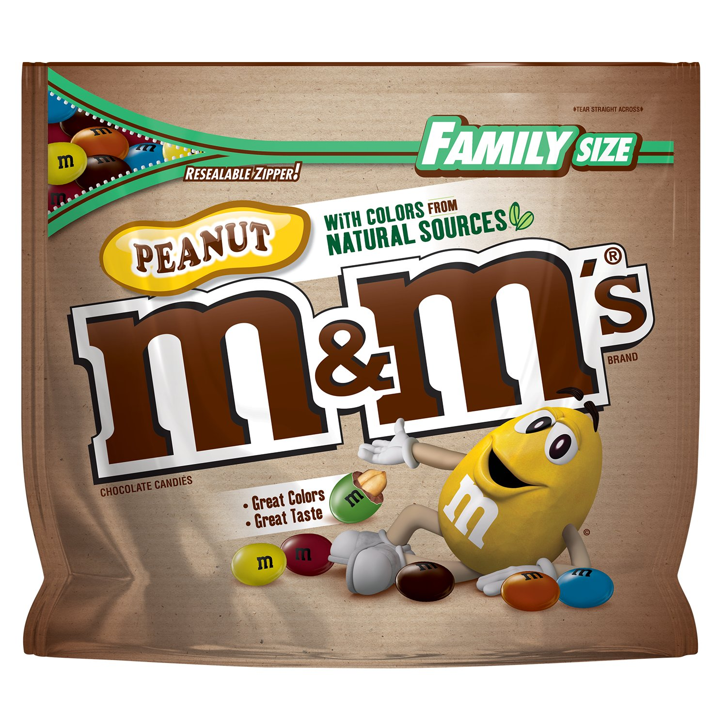 Amazon mms peanut chocolate candy with colors from natural amazon mms peanut chocolate candy with colors from natural sources family size 192 ounce bag grocery gourmet food buycottarizona Gallery
