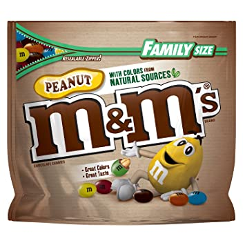 Amazon.com : M&M\'S Peanut Chocolate Candy With Colors From Natural ...