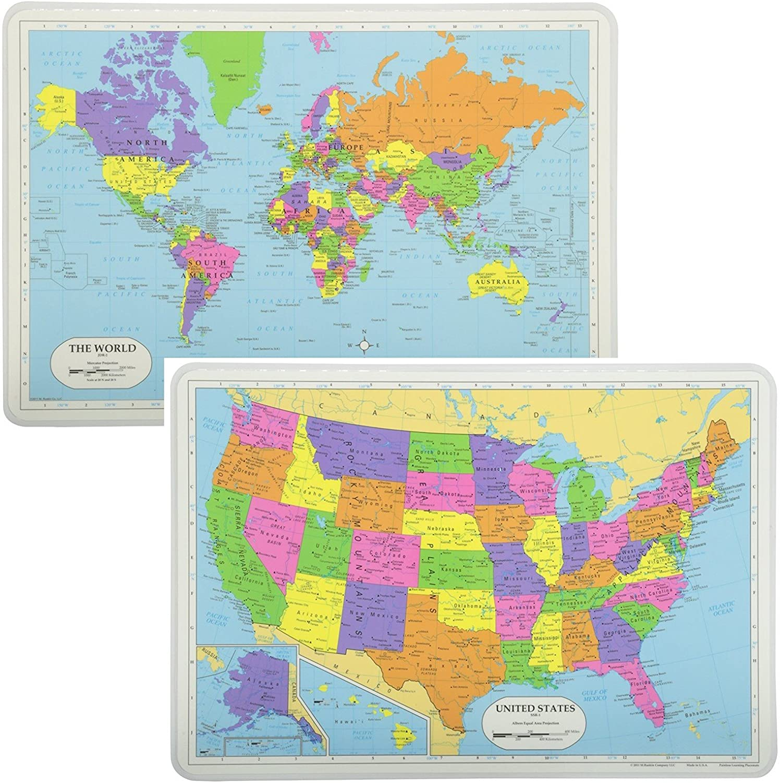 Sin dolor aprendizaje educativo manteles individuales Sets Estados ...