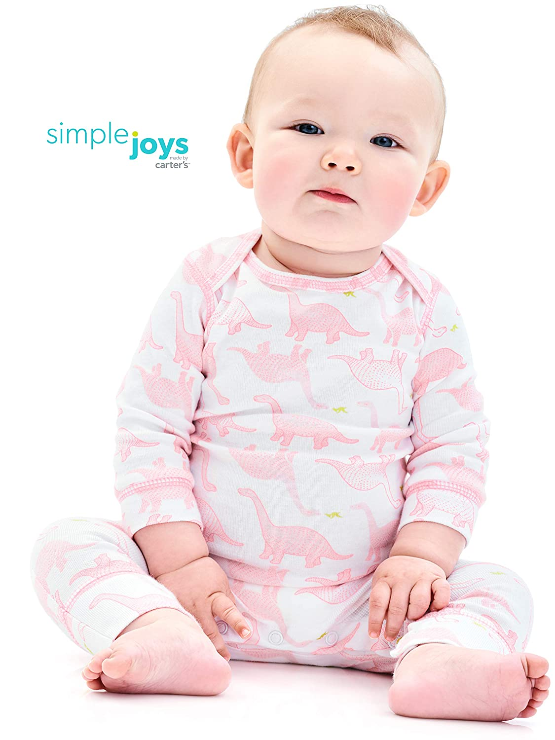 Private Label Simple Joys by Carters Baby Girls 3-Pack Jumpsuits Carter/'s Simple Joys