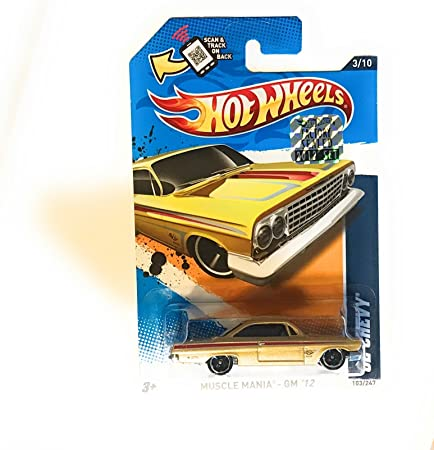 Hot Wheels /'62 Chevy Muscle Mania Gold