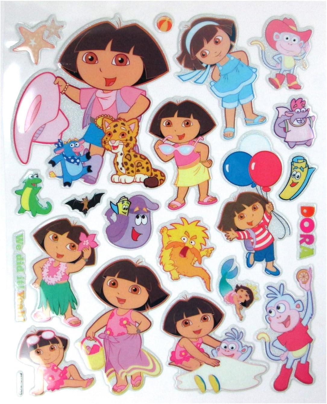 Dora La Exploradora Sticker Sheet - Dora Stickers: Amazon.es ...