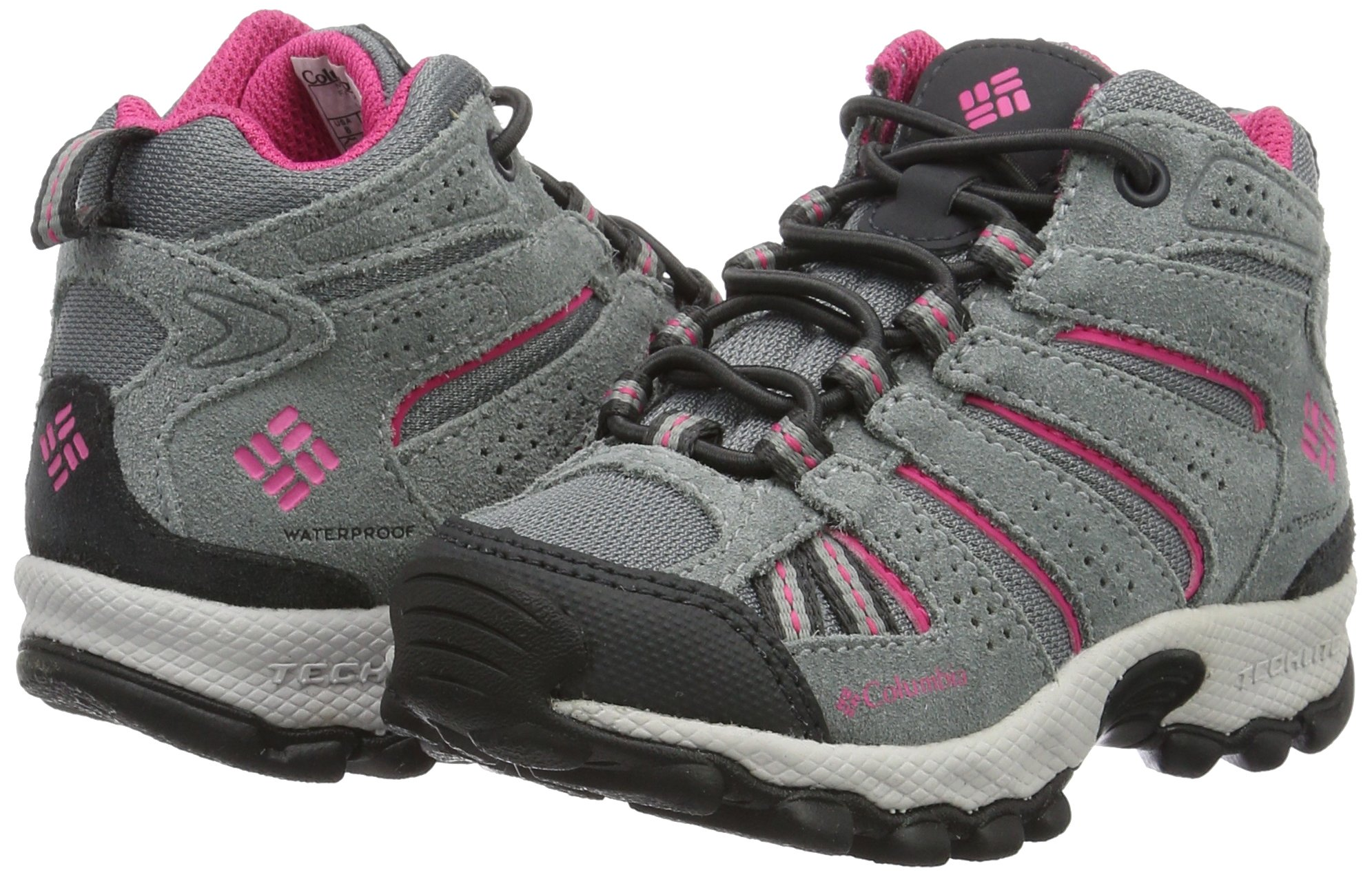 Columbia Childrens North Plains MID Waterproof Hiking Boot Grey Ash/Ultra Pink 11 M US Little Kid by Columbia (Image #5)
