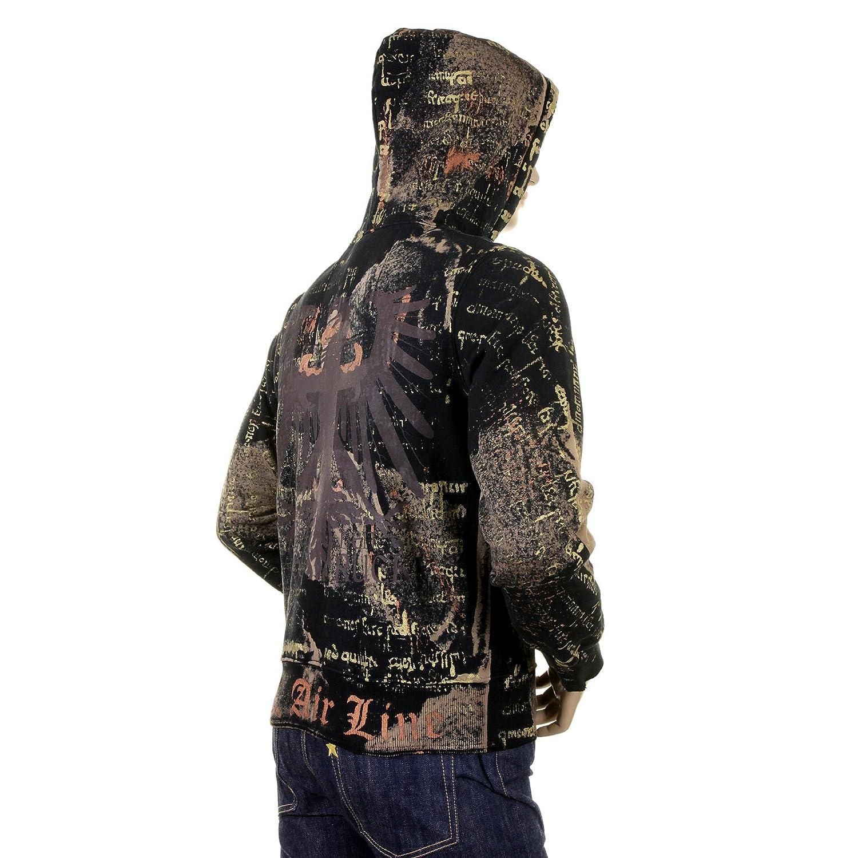 LA Airline Black Ausdruck Zipped Sweatshirt Hoody LAIR3147