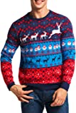 SWAG ON YOU Ugly Christmas Sweater Pullover for Men and Women Xmas Sweaters Fairisle Design
