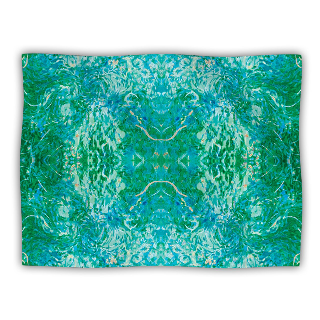 Kess InHouse Nikposium 'Eden' Teal Green Dog Blanket, 40 by 30-Inch