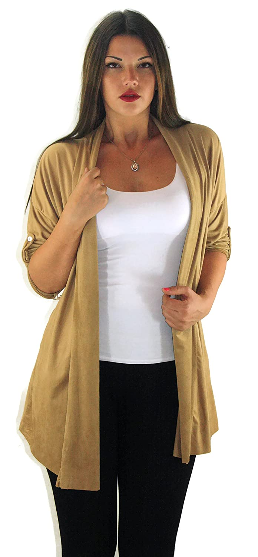 #668 Damen Designer Jacke Bolero Jäckchen Cardigan Strickjacke 36 38 40 S M L Schwarz