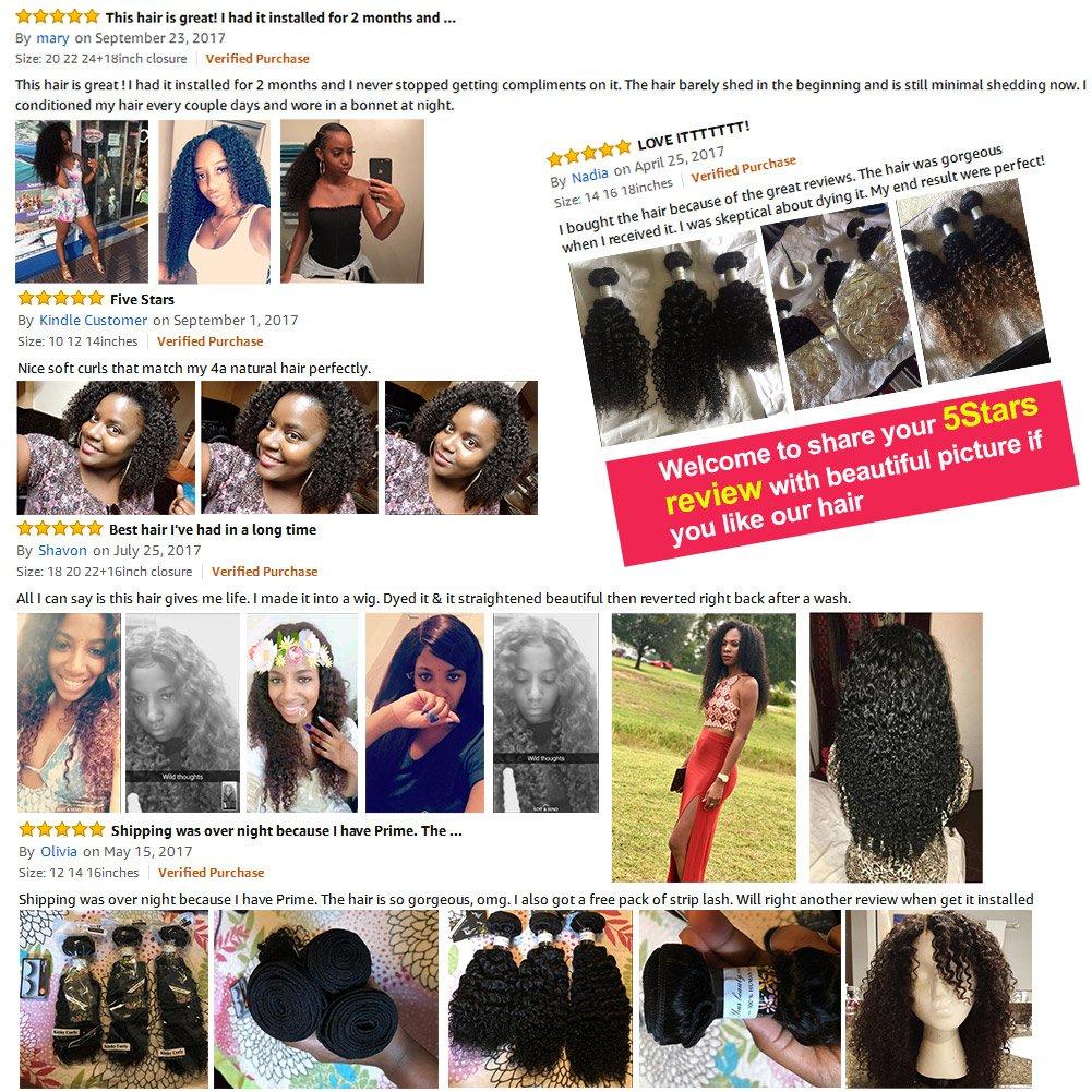 Amazon Bp Hair Virgin Brazilian Curly Hair Weave 3 Bundles 7a