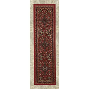 Ottomanson New Ottohome Persian Heriz Oriental Design Runner Rug With  Non Skid Rubber Backing,