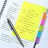 Redi-Tag Divider Sticky Notes, Tabbed Self-Stick Lined Note Pad, 60 Ruled Notes, 4 x 6 Inches, Assorted Neon Colors…