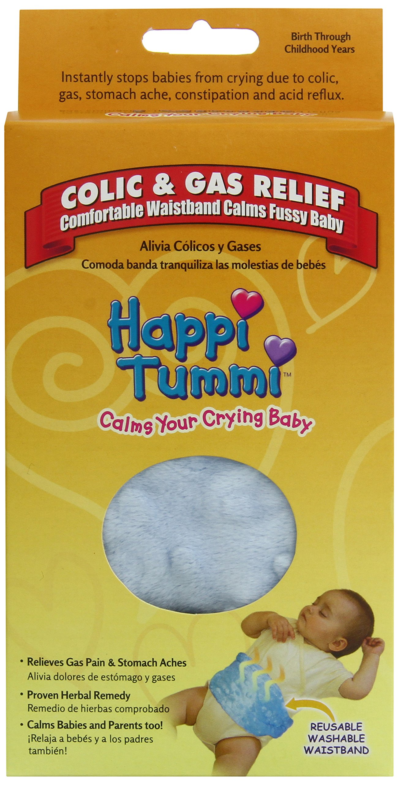 Happi Tummi Baby Gas Relief All Natural Belly Wrap Natural Herbal Aroma Therapy Relief For Infants