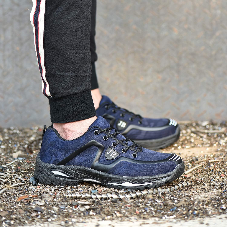 Uomo Scarpe Antinfortunistiche Donna Scarpe da Lavoro da Donna Anziano Scarpe da Cantiere con Punta in Acciaio S3 Anti-Piercing Antiscivolo