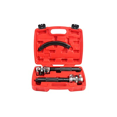 Shankly Spring Compressor Tool (2 Pieces) - Heavy Duty Build, Ultra Rugged Coil Spring Compressor, Strong and Durable Spring Compressor with Safety Guard and Carrying Case: Automotive