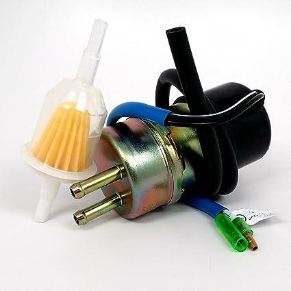 amazon com fuel pump and filter fits kawasaki mule 2500 2510 3000 rh amazon com Kawasaki 49040 Fuel Pump Kawasaki 500 Fuel Pump