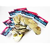 "BULK CRAFT SEQUIN ROUND DISC PAILLETTES ~ Gold~3/4"" / 20mm 900 pieces (12 packs, 75 per pack)"
