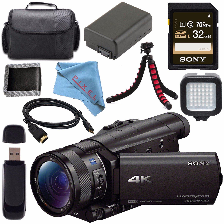 Sony FDR-AX100 FDRAX100/B 4K Ultra HD Camcorder Standard by Sony