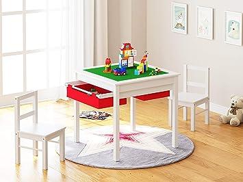 Utex 2 In 1 Enfants Multi Table Activite Et 2 Chaises Avec Espace