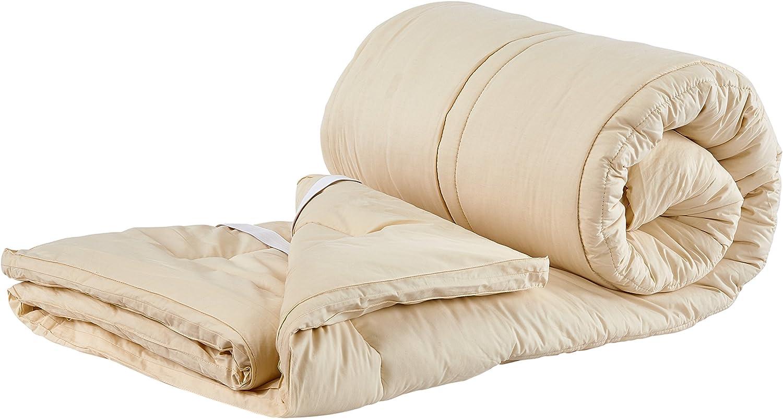 Sleep Beyond 76 by 80-Inch Organic Merino Wool Mattress Topper, King, Ivory