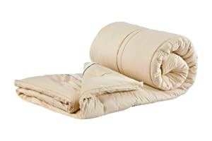 Sleep & Beyond 60 by 80-Inch Organic Merino Wool Mattress Topper, Queen, Ivory