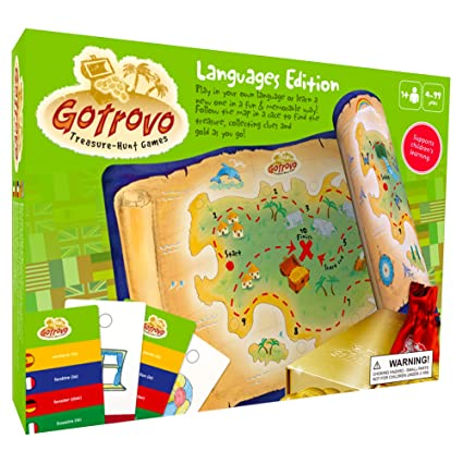 GoTrovo Language Game for Kids - Fun Indoor Outdoor Treasure Hunt Game and Scavenger Hunt.