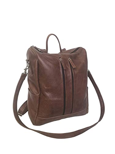 5c4629ae6b02 Amazon.com  Fgalaze Distressed Leather Backpack Bag