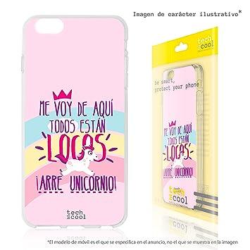 e84083ed76d Funnytech® Funda Silicona para LG K4 2017 [Gel Silicona Flexible, Diseño  Exclusivo] Frase Unicornio Estan Todos Locos Vers. Rosa: Amazon.es:  Electrónica