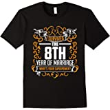 8th Wedding Anniversary Gifts 8 Year T Shirt For Her & Him