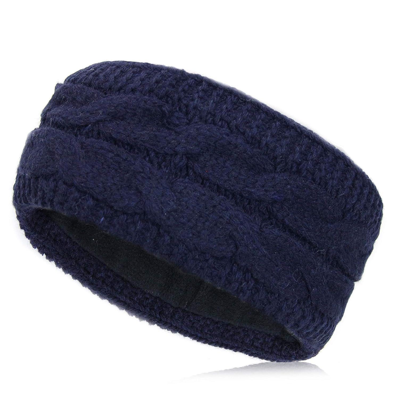 Vanessa & Melissa gestricktes Damen Stirnband, Haarband gefü ttert mit warmem Fleece, Kopfband SB1013