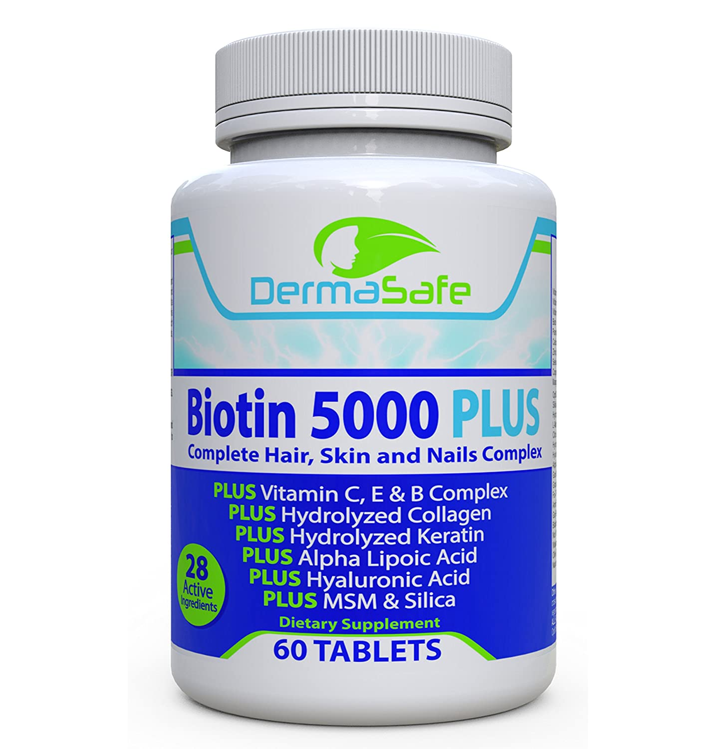 Amazon.com: Biotin 5000 PLUS - 7X More Effective For Hair, Skin and ...