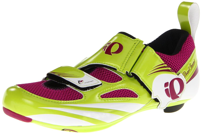 [パールイズミ] Women 's Tri Fly IV Carbon Cycling Shoe 36 Lime/Orchid B008KUO8B4