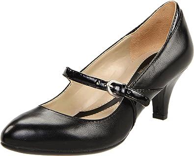 51e740889 Naturalizer Women's Driven Mary Jane Pump,Black Leather/Shiny,7 ...