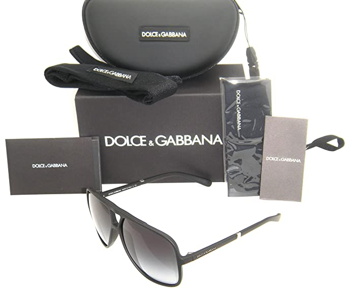 ba8258feb1d3 Authentic Dolce   Gabbana Black Frame   Gray Gradient DG 6081 2616 ...