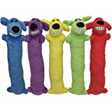 "Multipet Loofa Dog 18"" Plush Dog Toy, Colors May Vary 1 ea"