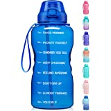 Fidus Large 1 Gallon/128oz Motivational Water Bottle with Time Marker & Straw,Leakproof Tritan BPA Free Water Jug,Ensure You
