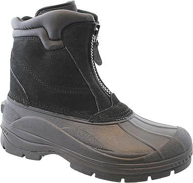 totes Mens Tornado Center Zip Leather