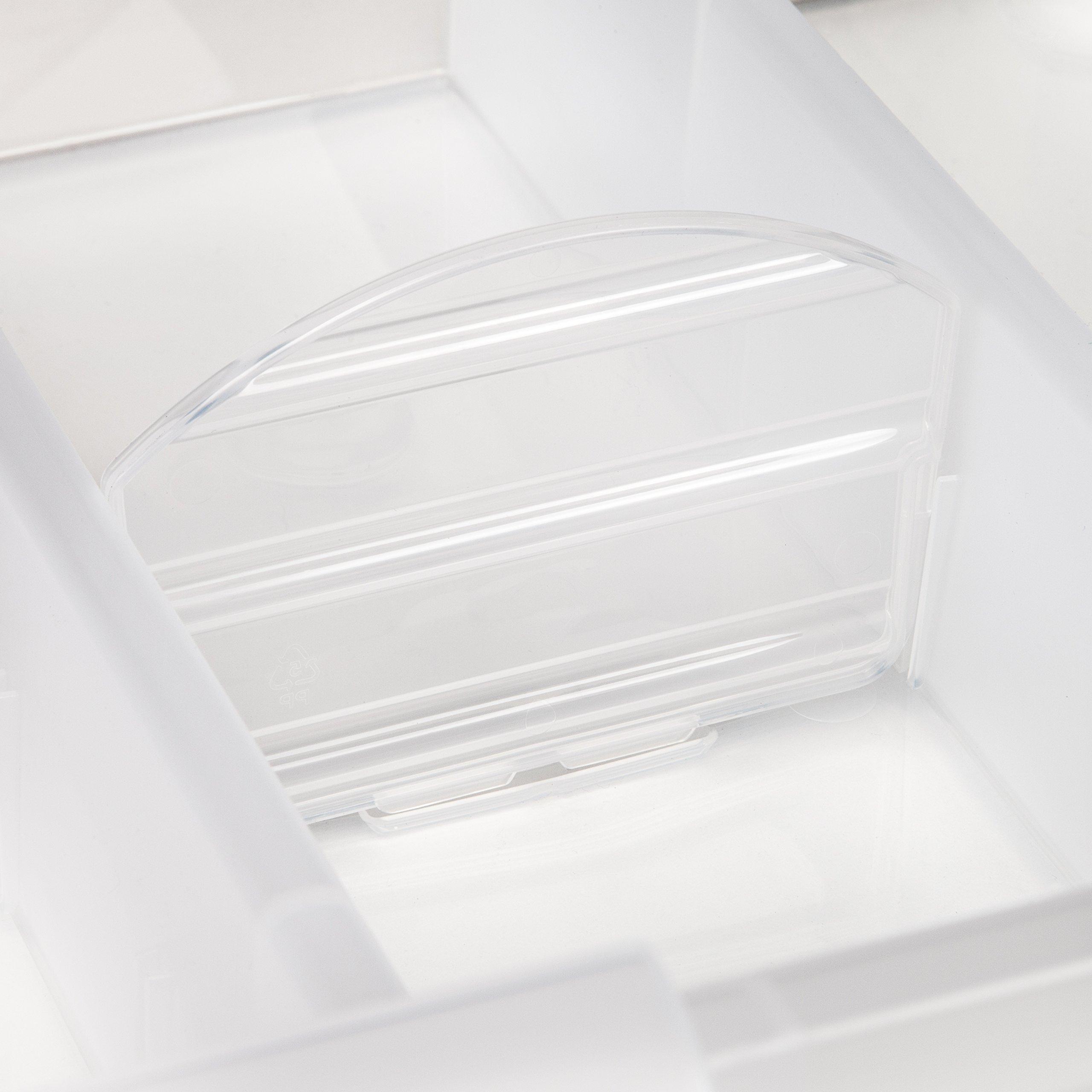 IRIS Large Divided Media Storage Box, Clear by IRIS USA, Inc. (Image #7)