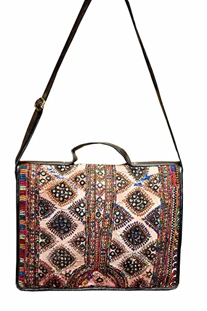72019d734e Amazon.com  Vintage-Banjara-Indian-Ethnic-Embroidery-Women-shoulder-Hand- Messenger-Hob BG89  Clothing