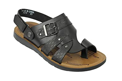a2a1afa75 Mens Real Leather Walking Sandals Gladiator Style Black Brown Size 6 7 8 9  10 11