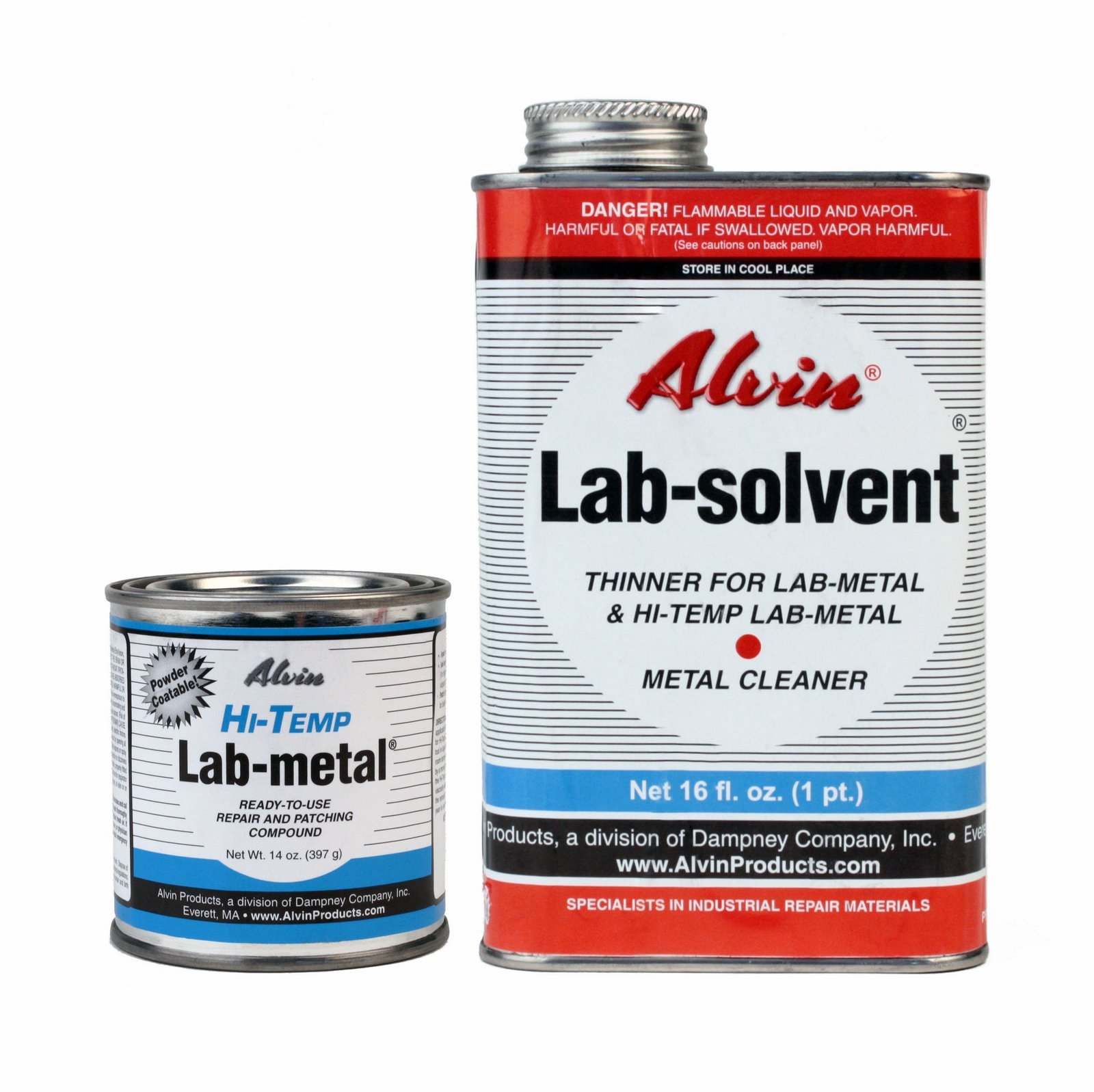 Alvin 14 oz Lab Metal Hi Temp Repair & Patching Compound 16 oz Lab Solvent Thinner