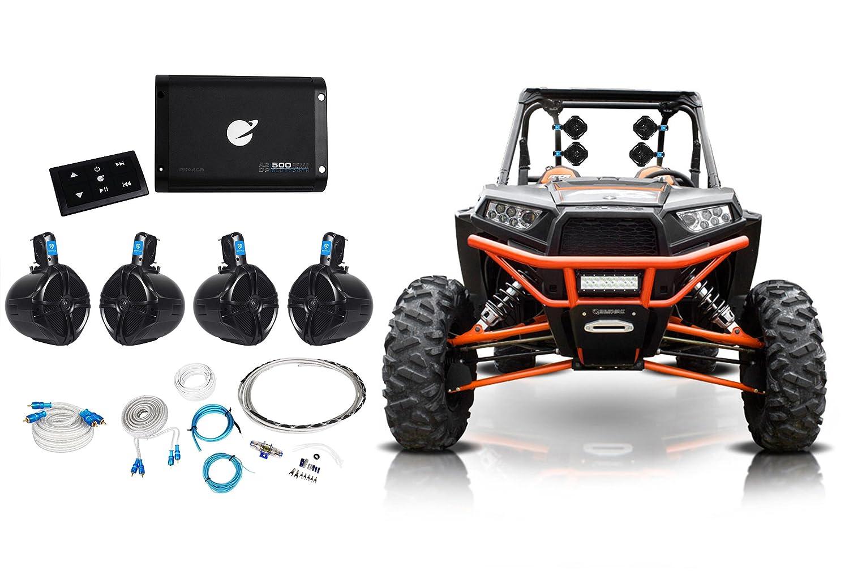4 Rockville 8 Tower Speakers Bluetooth Amplifier Can Am Rally Fuse Box Remote Atv Utv Rzr Polaris Automotive