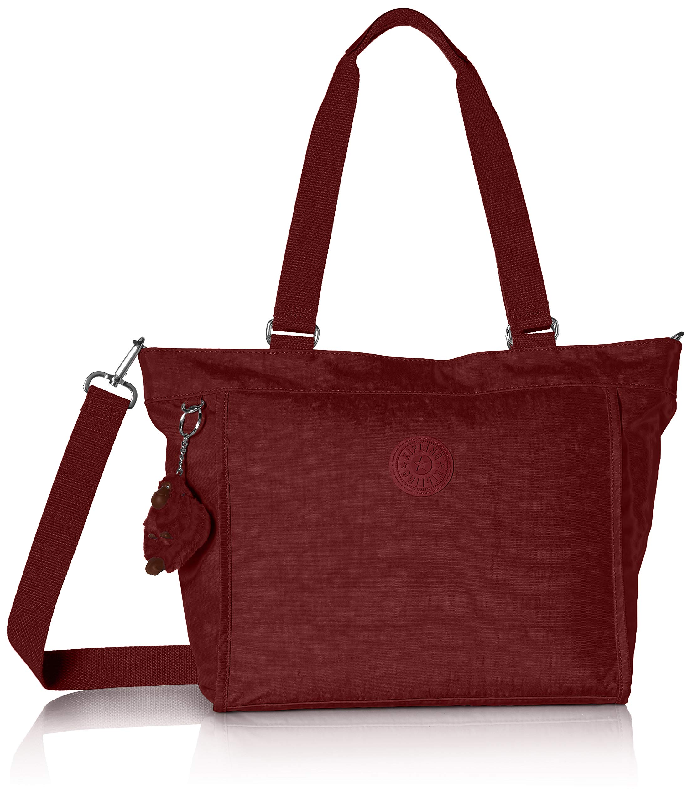Kipling New Shopper Small Solid Tote, Brick Red