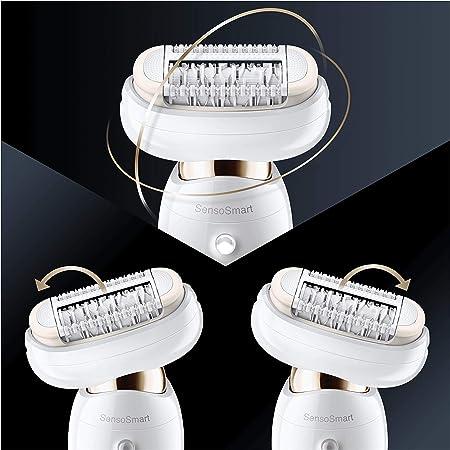 Braun Silk-épil 9 Flex 9100 Set de belleza, depiladora eléctrica mujer con cabezal flexible para depilación fácil, blanco