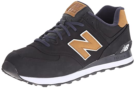 New Balance Men's ML574 Lux Pack Running Shoe, Black/Tan, ...