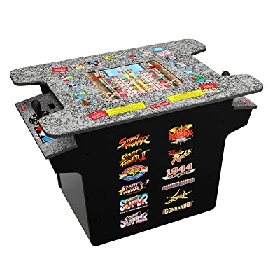 Arcade 1Up - New! Deluxe 12-in-1 Head to Head Cocktail Table with Split Screen Street Fighter & More: Video Games
