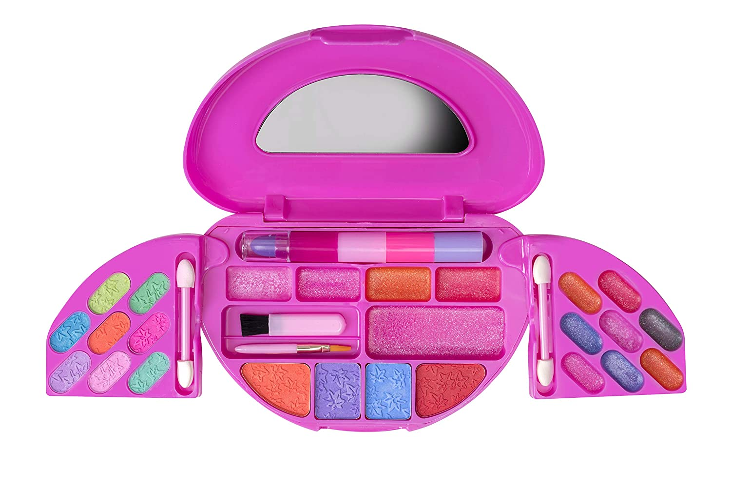 Playkidz: My First Princess Makeup Chest, Girl's All-in-One Travel Cosmetic and Real Makeup Palette with Mirror (Washable)