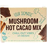 Four Sigmatic Organic Mushroom Hot Cacao with Reishi to Relieve Stress, Vegan, Paleo, 0.1 Ounce (10 Count)