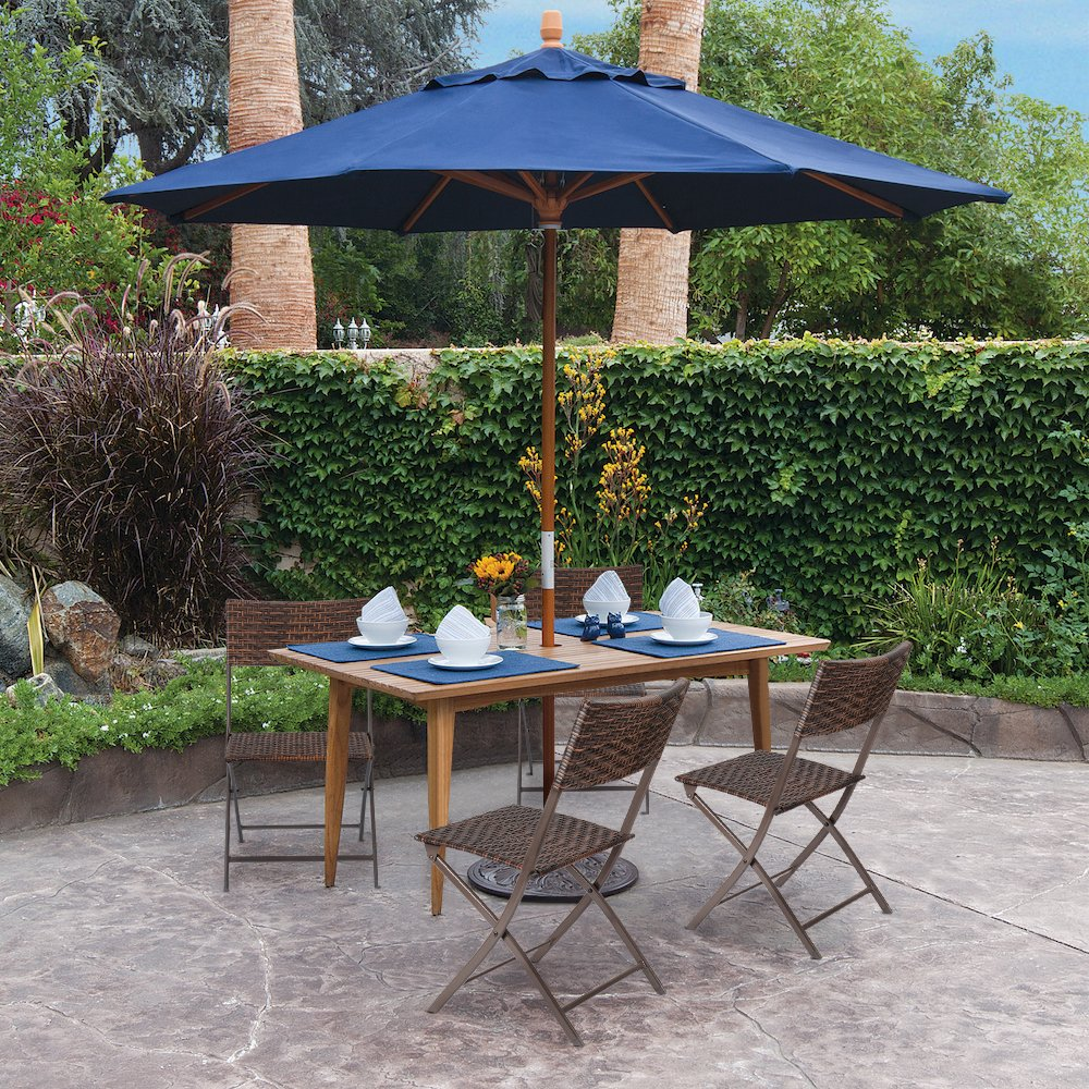 Flamaker Folding Patio Chairs PE Wicker Rattan Chair 4 Pieces Patio Furniture Set by Flamaker (Image #7)