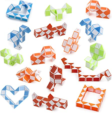 CUBIDI/® 6 Magic Snakes avec 24 Blocs id/éal pour Offrir /à lanniversaire dun Enfant ou Simplement pour Lui Faire Plaisir Casse-t/ête pour Enfant et Adulte