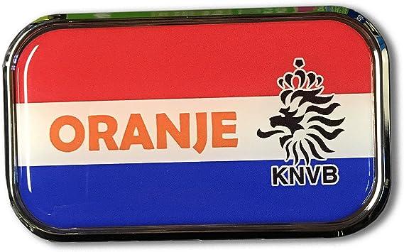 "HOLLAND Oval Flag CHROME Emblem Proud Car OVAL Domed sticker 3D 3.25/""x 2.25/"""